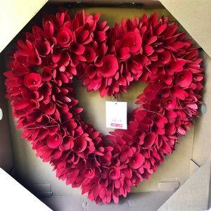 NWT Pier 1 Decorative red flower wreath